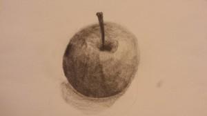 Apfel mit Schatten